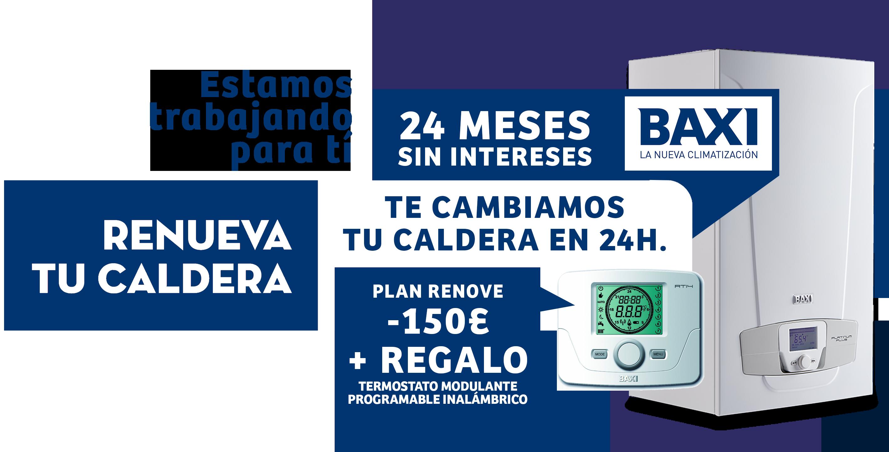 OFERTA CALDERA MARZO BAXI 2020